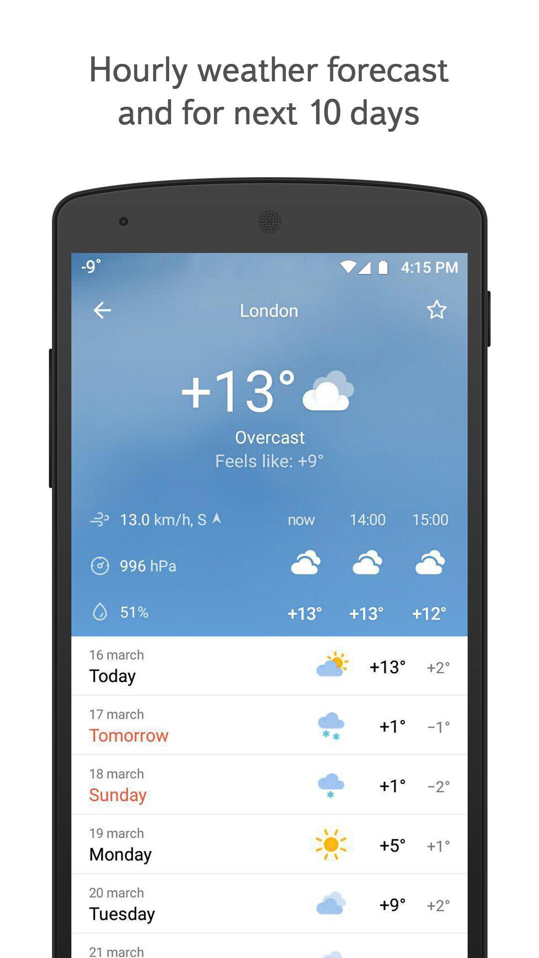 Yandex.Weather 6.5.11 Screenshot 1