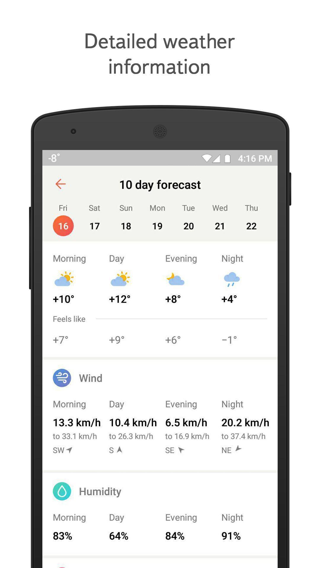 Yandex.Weather 6.5.11 Screenshot 3
