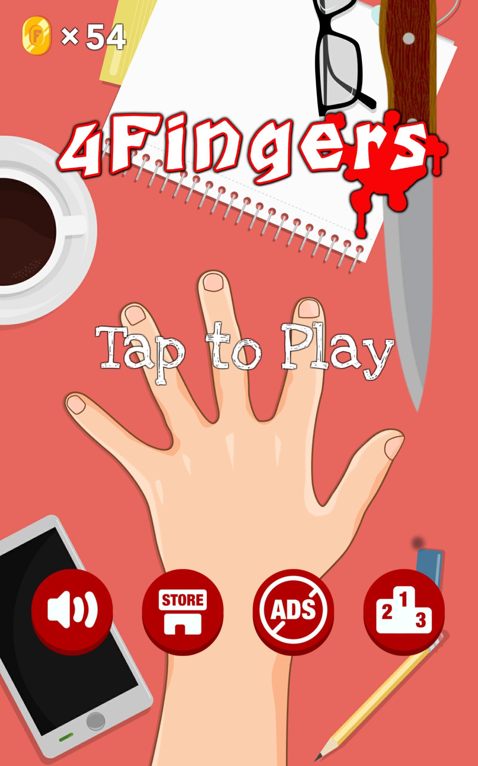 4 Fingers - free knife games 3.4 Screenshot 1