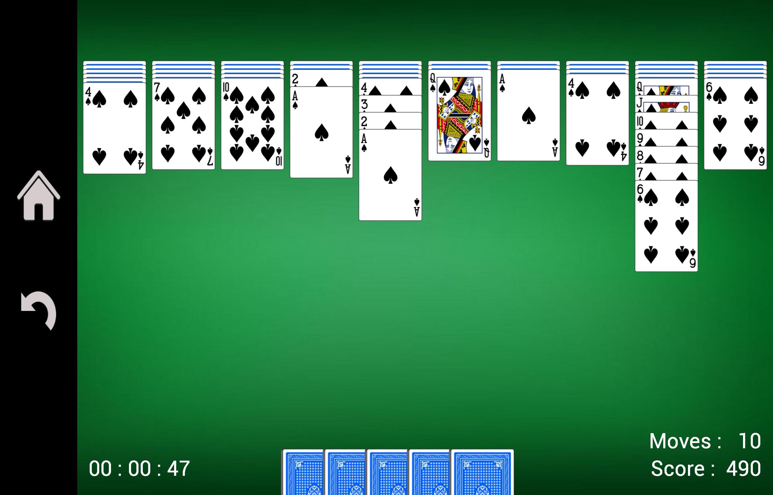 Spider Solitaire 1.17 Screenshot 2