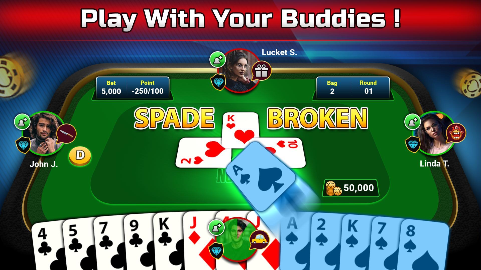 Spades Free - Multiplayer Online Card Game 1.6.3 Screenshot 3
