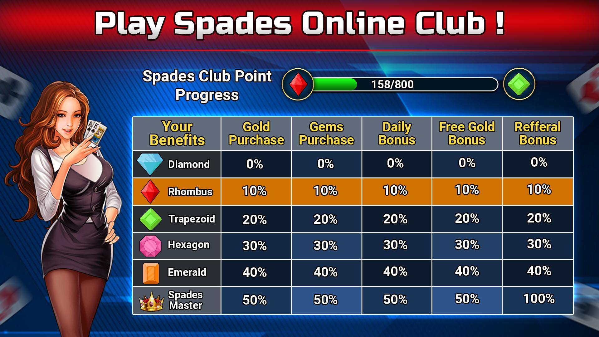 Spades Free - Multiplayer Online Card Game 1.6.3 Screenshot 7