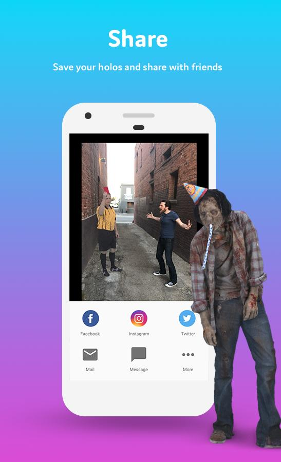 Holo – Holograms for Videos in Augmented Reality 2.4.4h1-0760c05 Screenshot 3