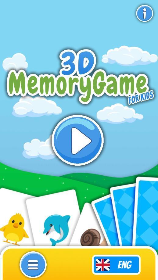 3D Memory for Kids 0.1.01 Screenshot 1