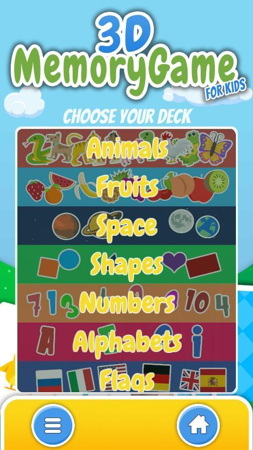 3D Memory for Kids 0.1.01 Screenshot 2