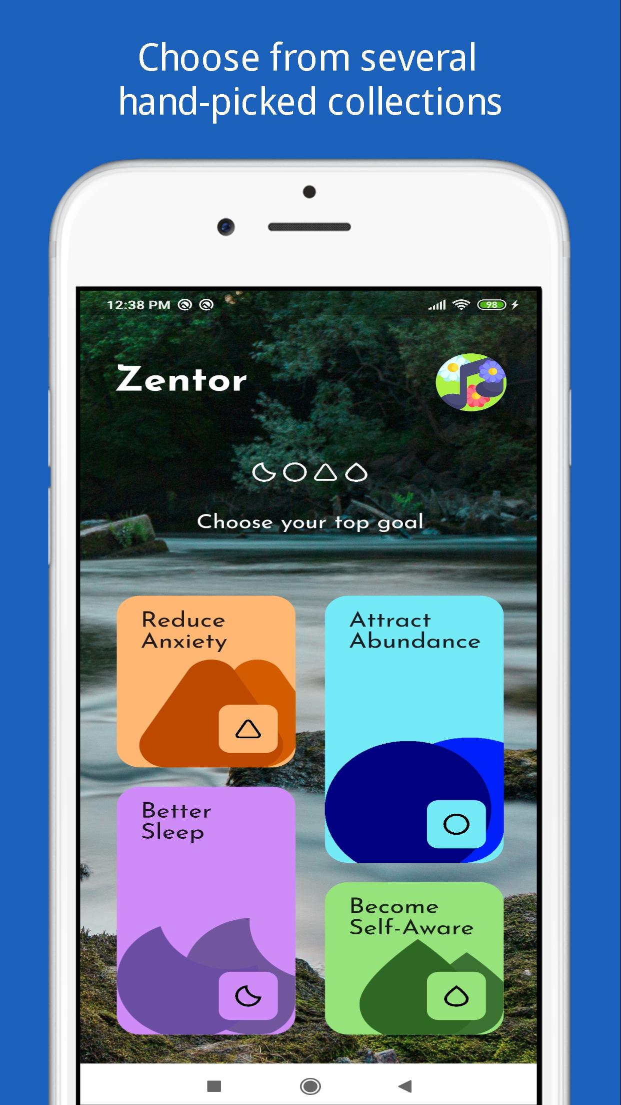 Zentor: Free Guided Meditation 1.0.0 Screenshot 1