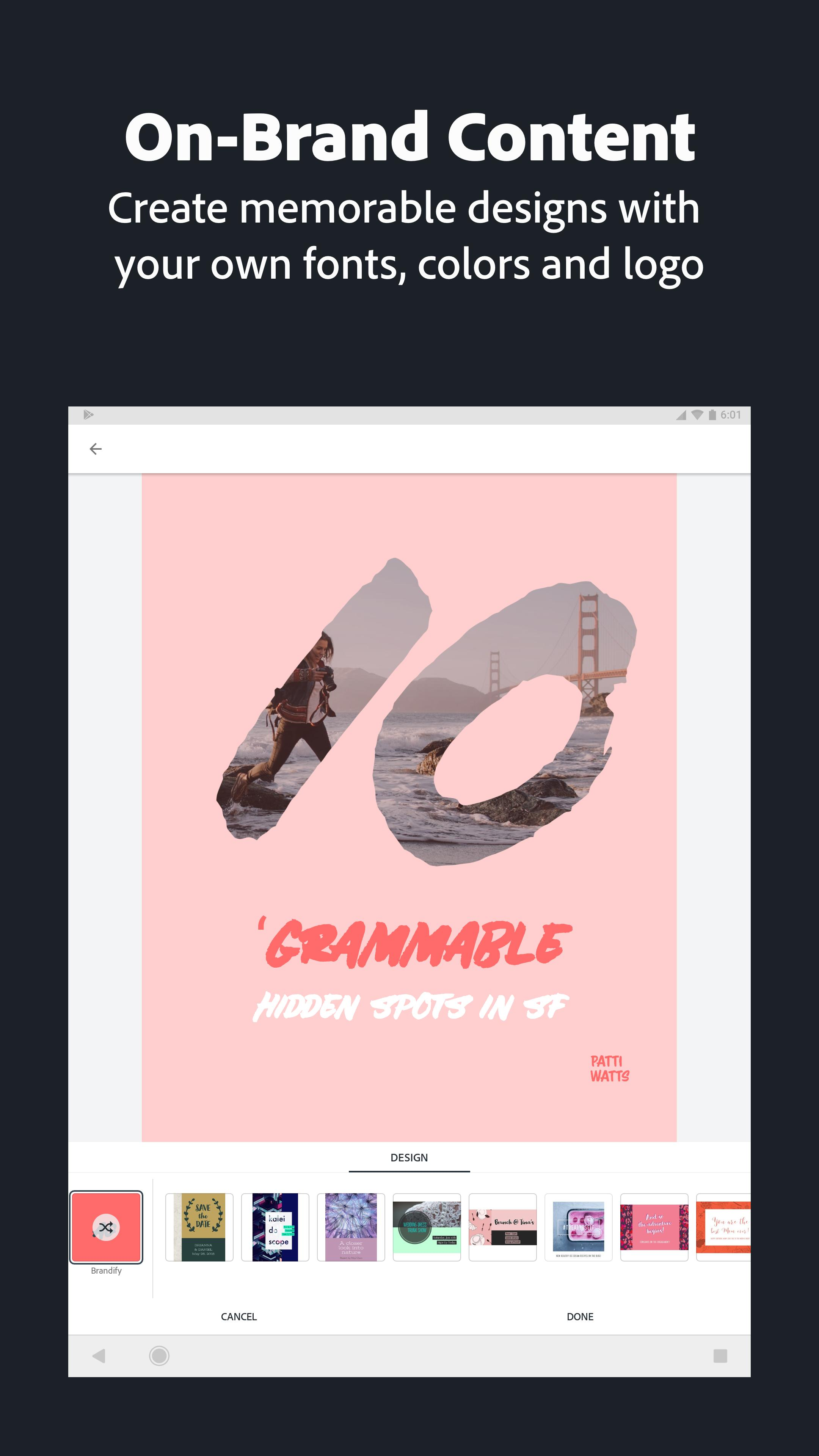 Adobe Spark Post: Graphic design made easy 4.6.0 Screenshot 22