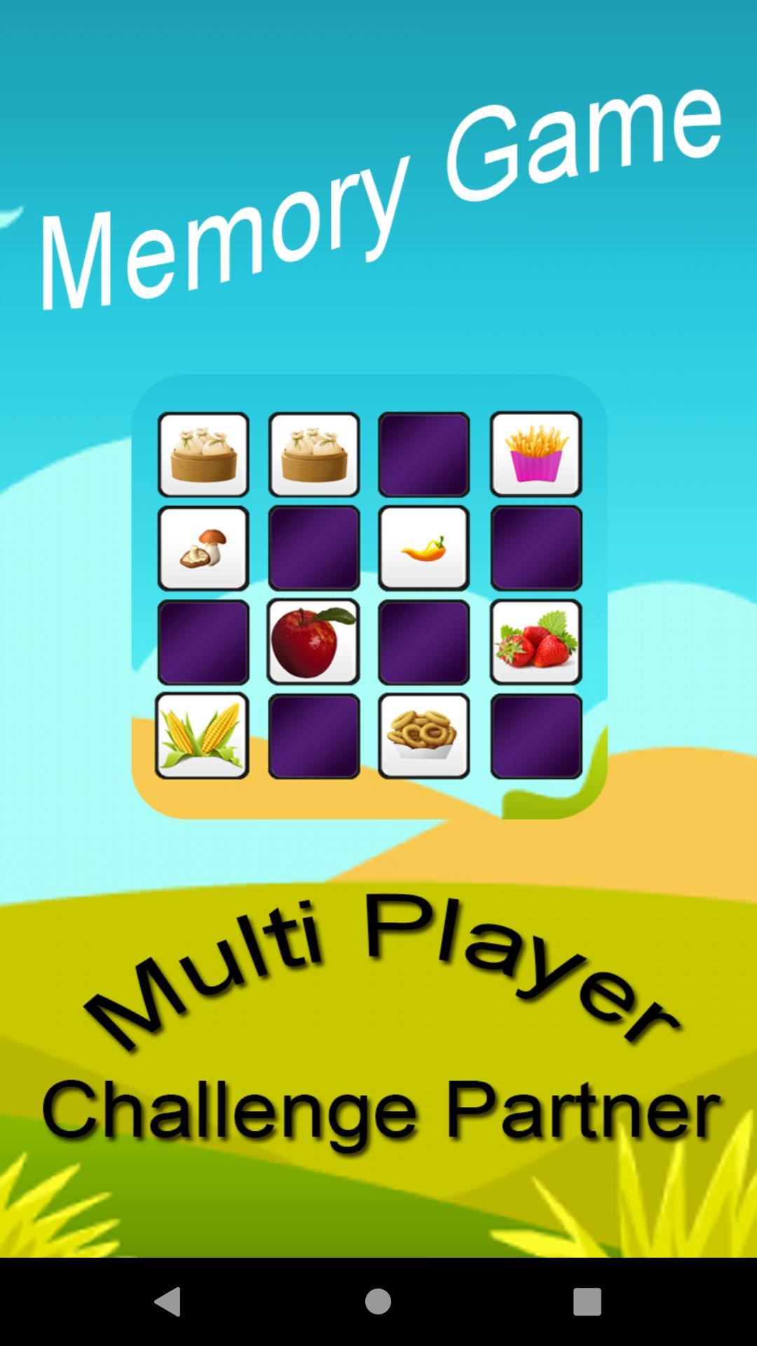 Memory Game (Challenge Partner) 1.5 Screenshot 1