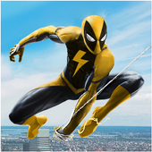 Flying Spider Rope Hero Super Vice Town Crime app icon