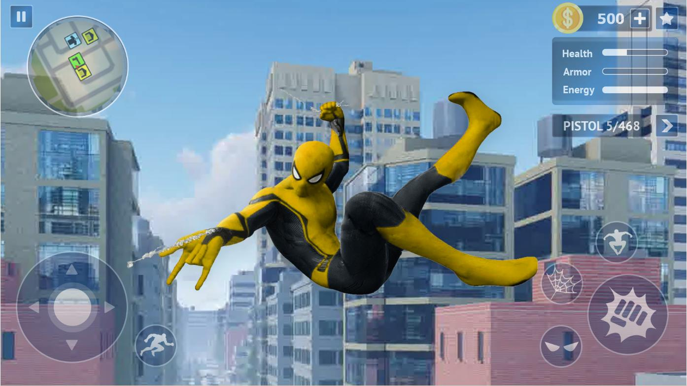 Flying Spider Rope Hero Super Vice Town Crime 1.0.32 Screenshot 1