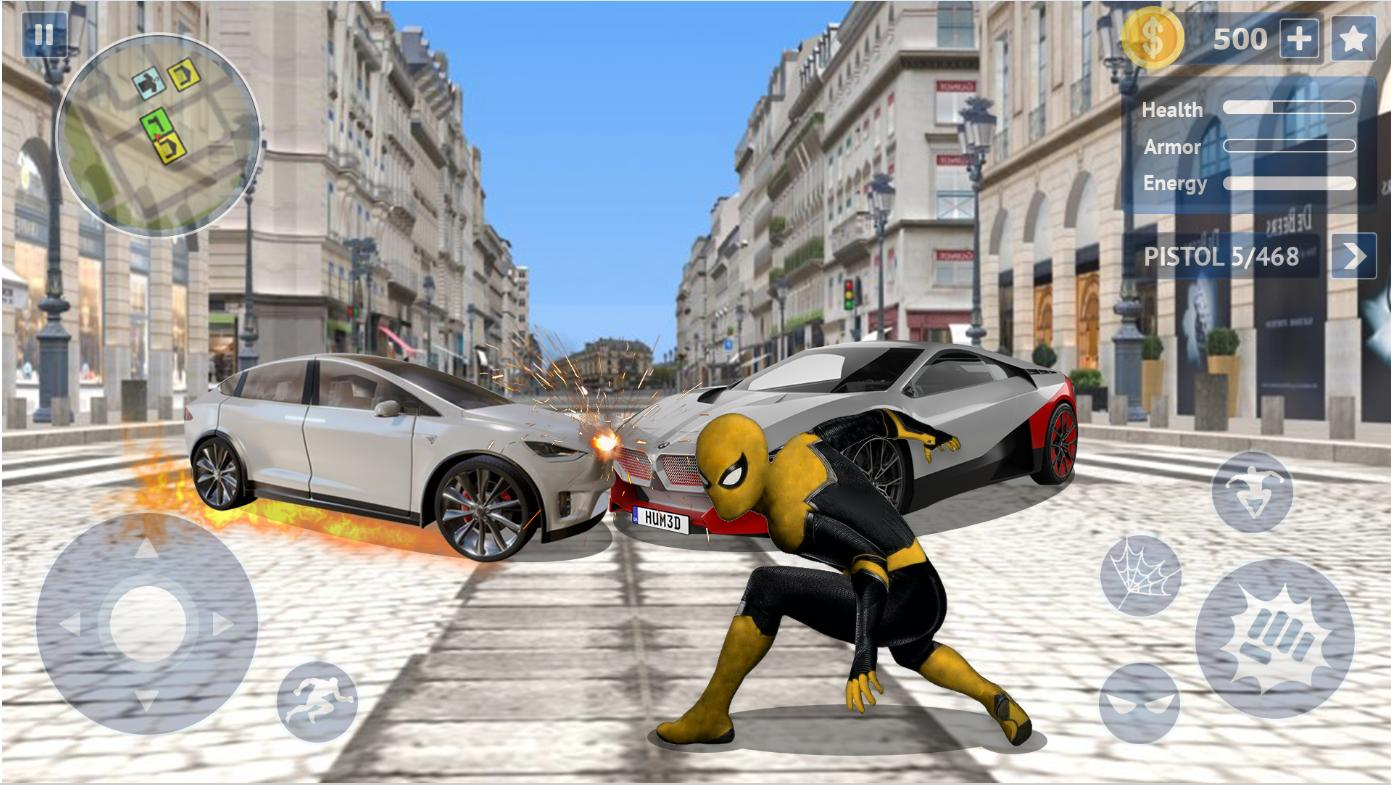 Flying Spider Rope Hero Super Vice Town Crime 1.0.32 Screenshot 2