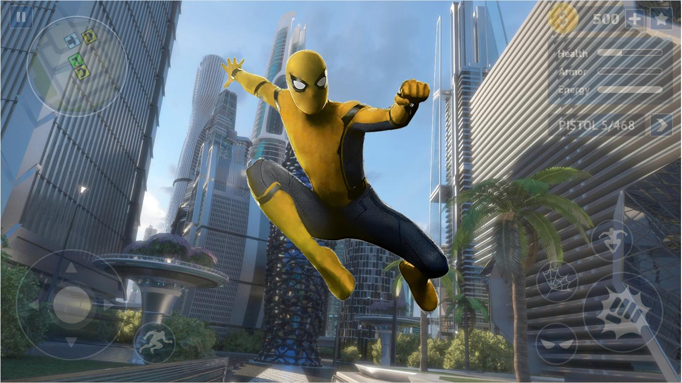 Flying Spider Rope Hero Super Vice Town Crime 1.0.32 Screenshot 4