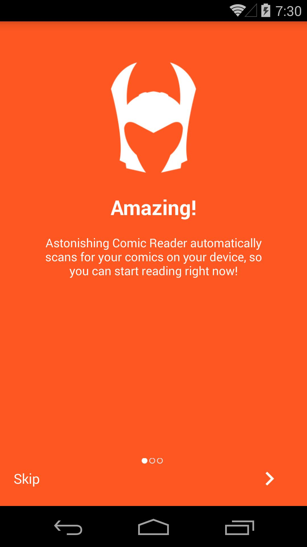 Astonishing Comic Reader 3.32 Screenshot 1
