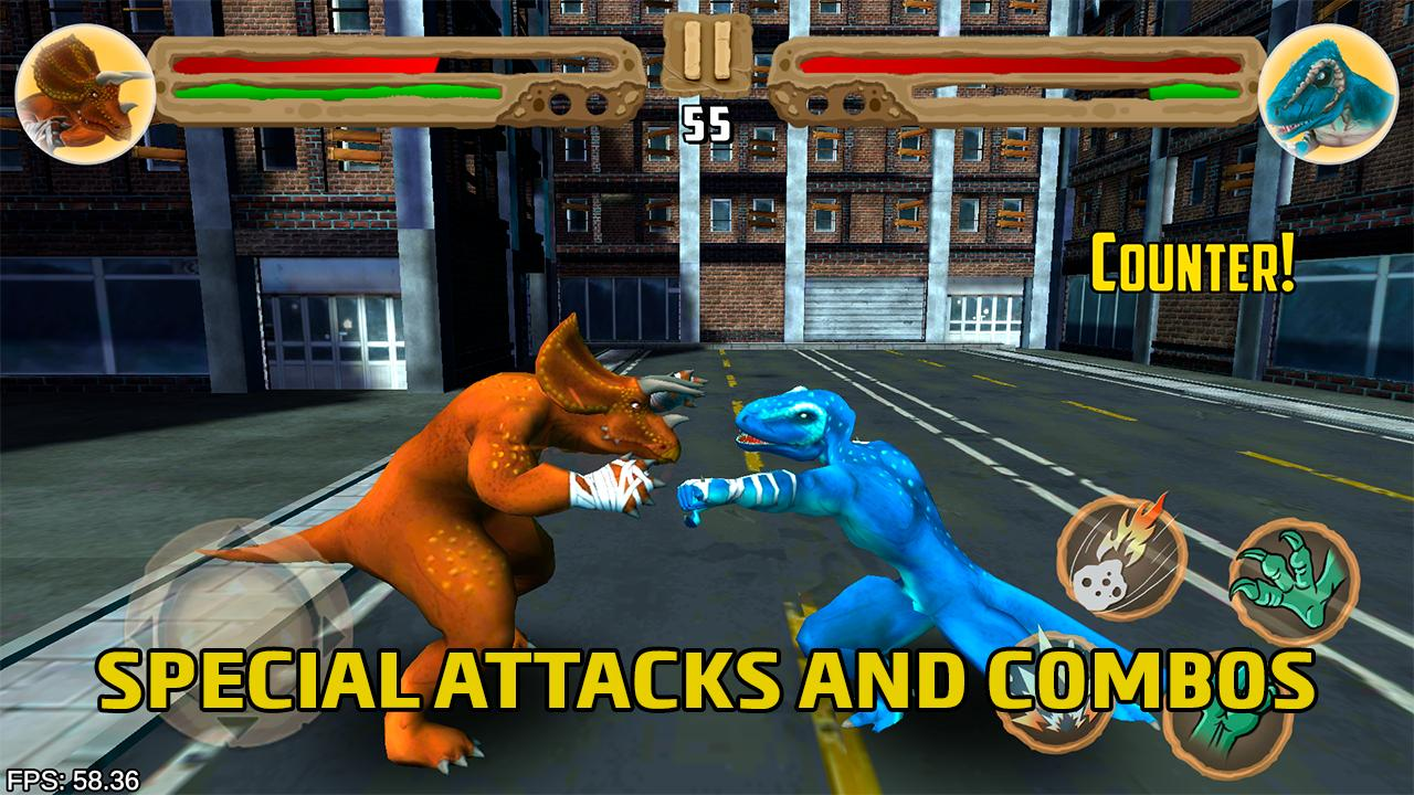Dinosaurs fighters - Free fighting games 2.0 Screenshot 1