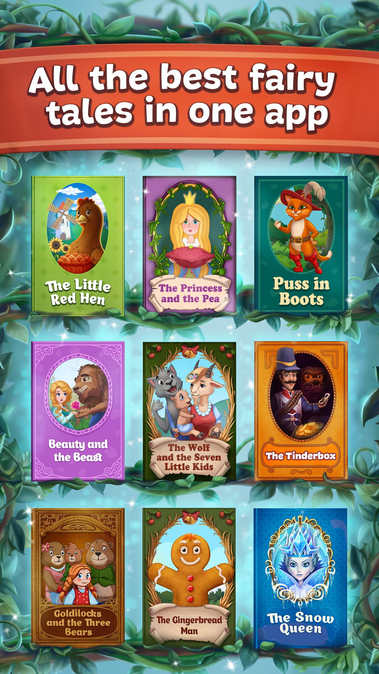 Fairy Tales Children's Books, Stories and Games 2.7.0 Screenshot 2