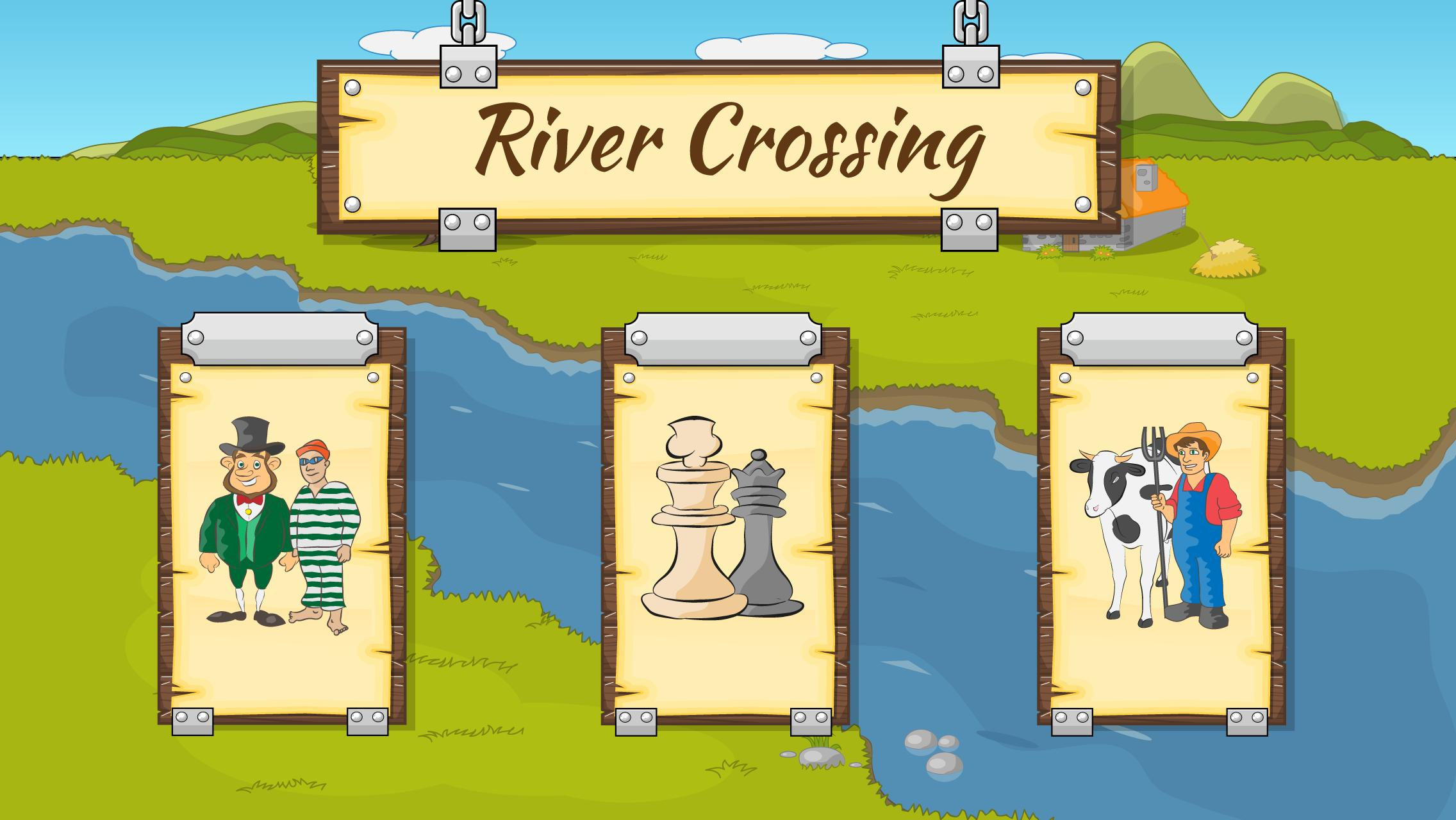 River Crossing IQ Logic Puzzles & Fun Brain Games 1.2.2 Screenshot 1