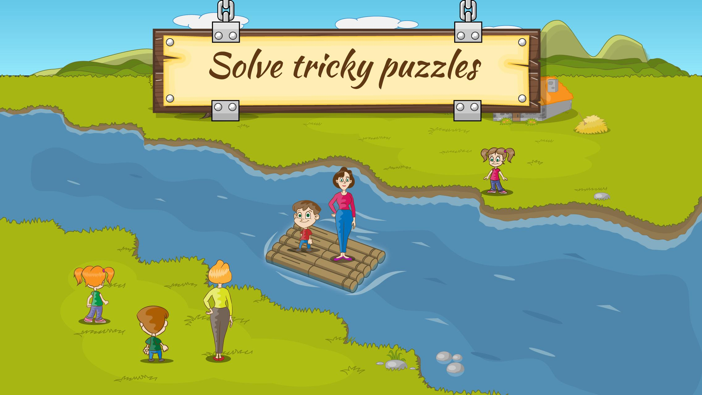 River Crossing IQ Logic Puzzles & Fun Brain Games 1.2.2 Screenshot 3