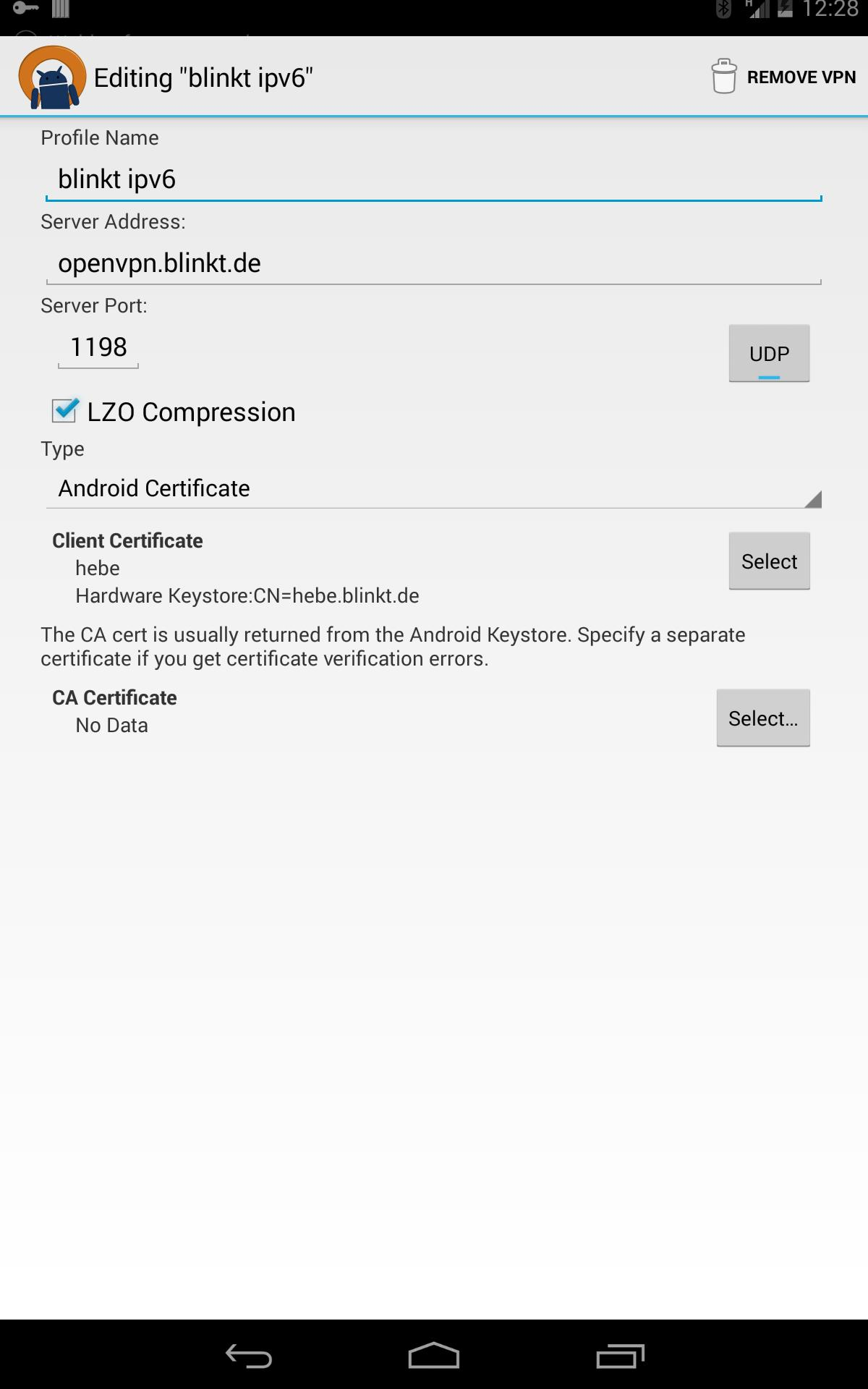 OpenVPN for Android 0.7.8 Screenshot 11