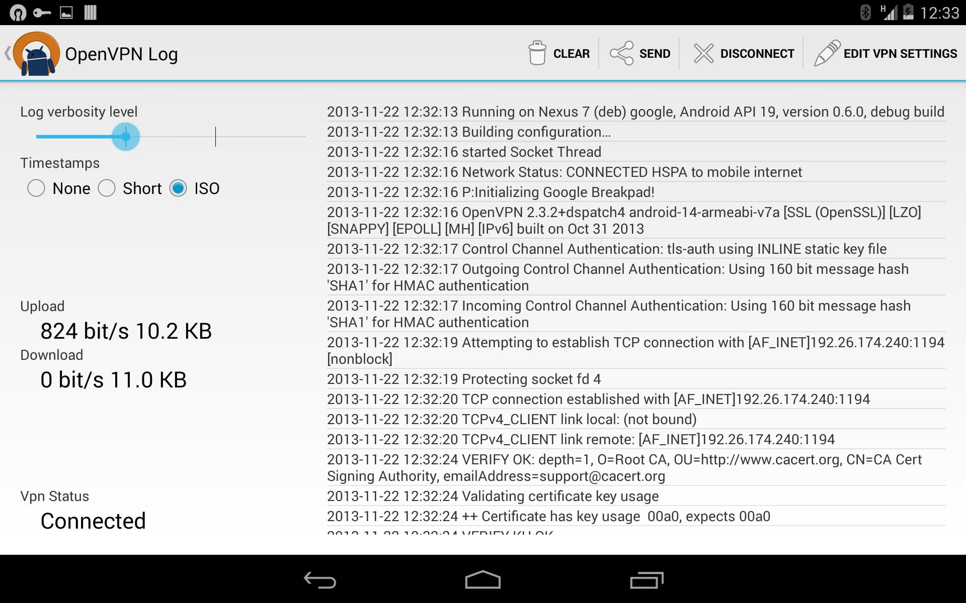 OpenVPN for Android 0.7.8 Screenshot 12