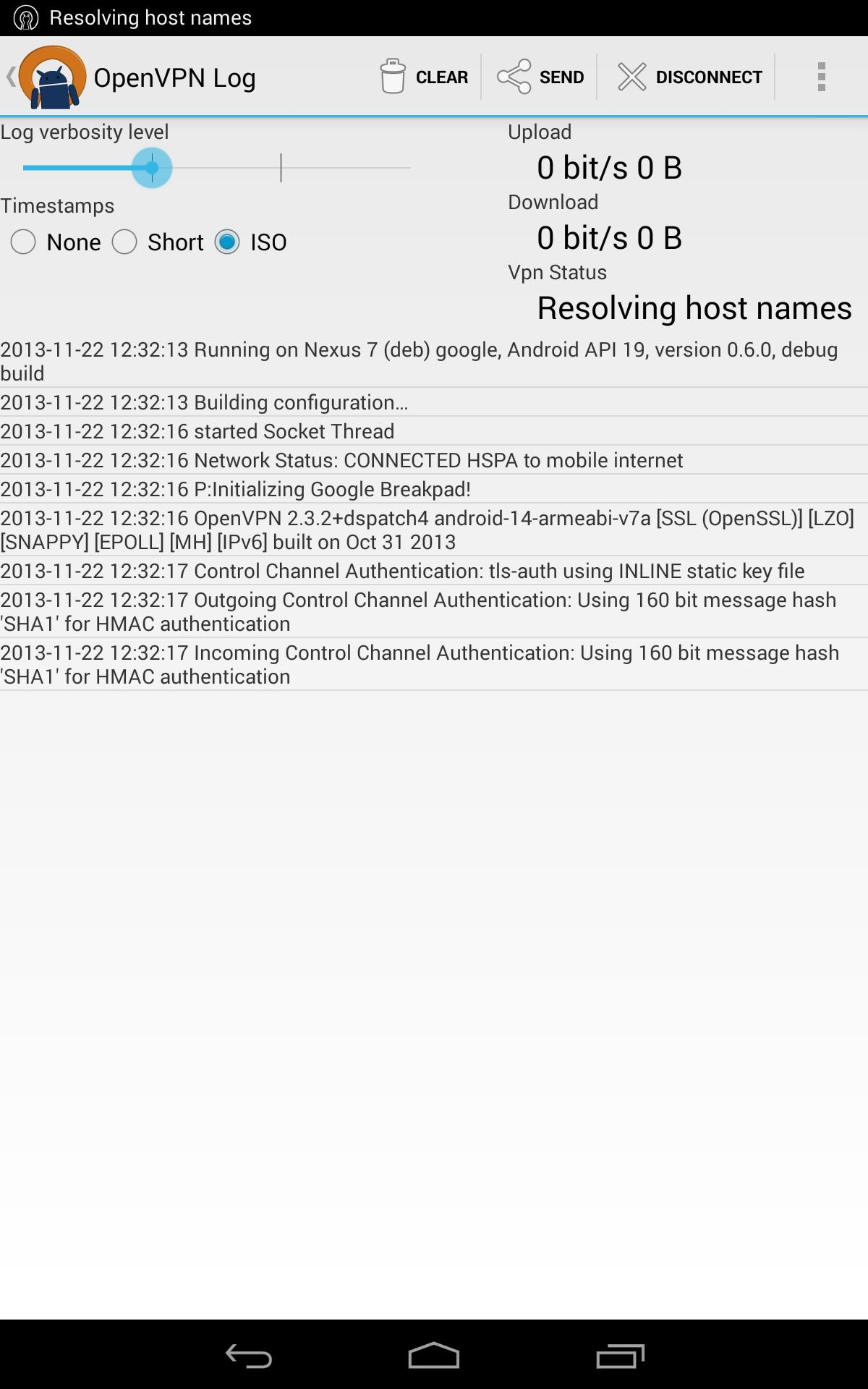 OpenVPN for Android 0.7.8 Screenshot 13