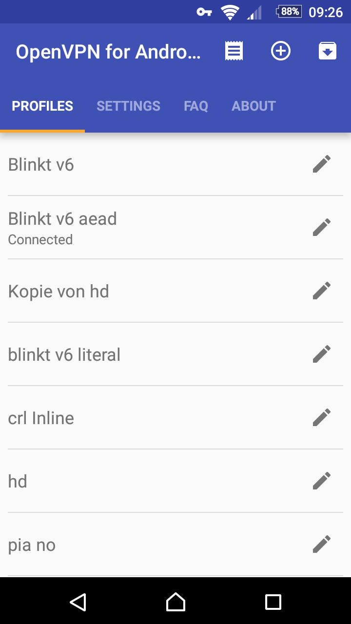 OpenVPN for Android 0.7.8 Screenshot 3