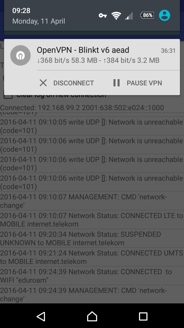 OpenVPN for Android 0.7.8 Screenshot 4