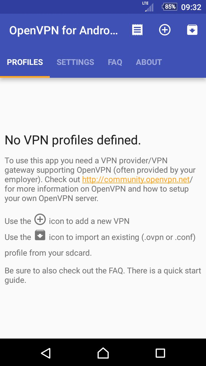 OpenVPN for Android 0.7.8 Screenshot 5