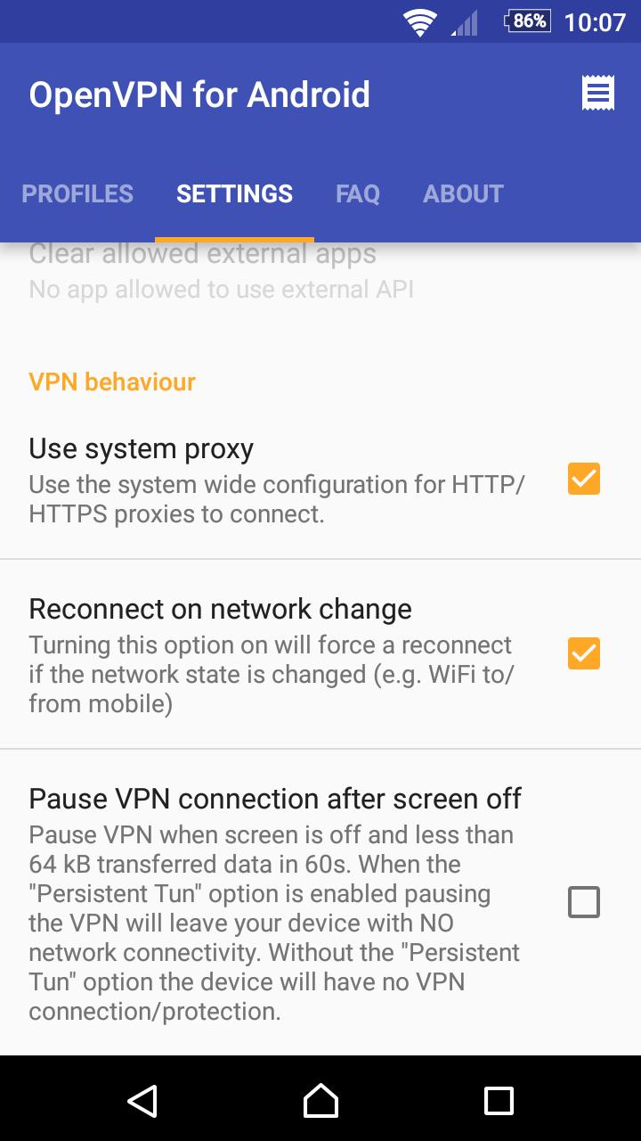 OpenVPN for Android 0.7.8 Screenshot 6