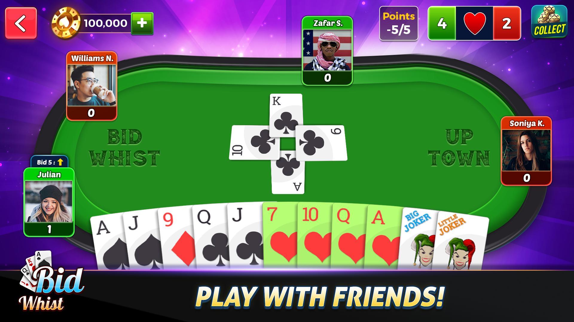 Bid Whist Free – Classic Whist 2 Player Card Game 11.3 Screenshot 1