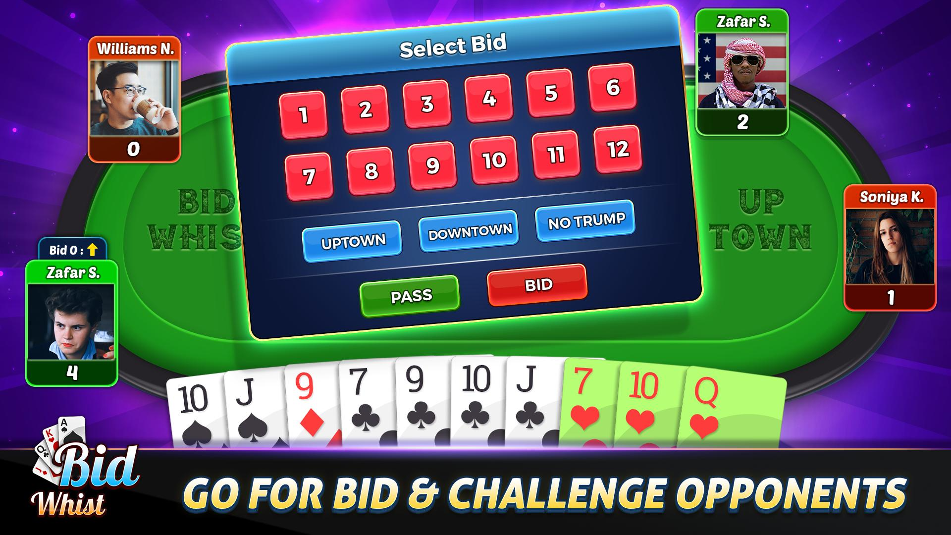 Bid Whist Free – Classic Whist 2 Player Card Game 11.3 Screenshot 13
