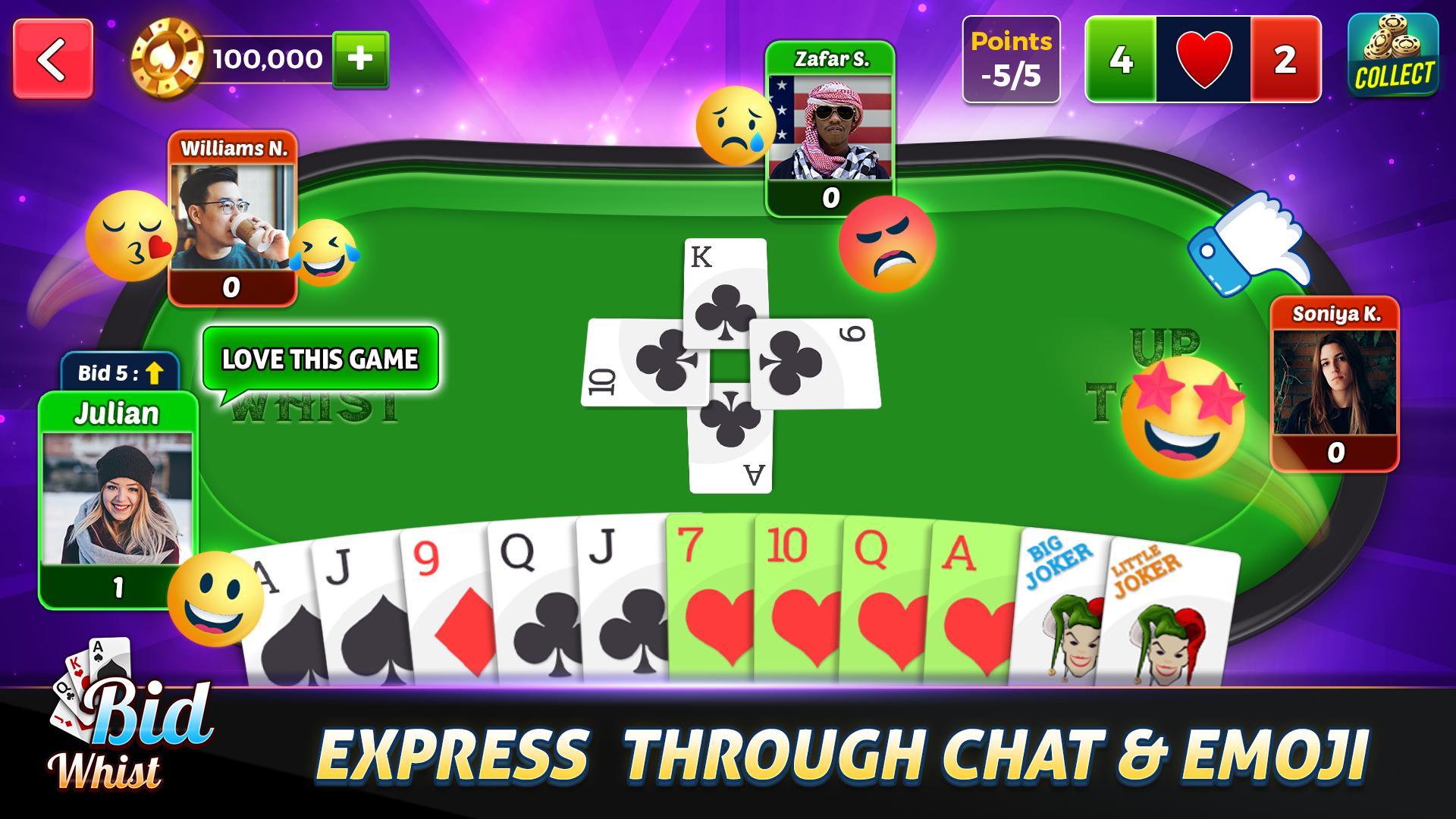 Bid Whist Free – Classic Whist 2 Player Card Game 11.3 Screenshot 2