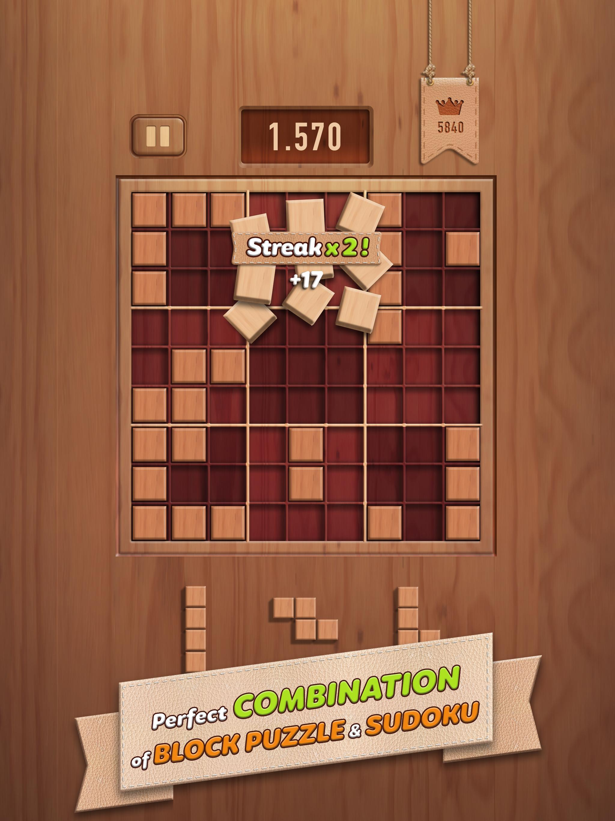 Woody 99 Sudoku Block Puzzle - Free Mind Games 1.2.2 Screenshot 7