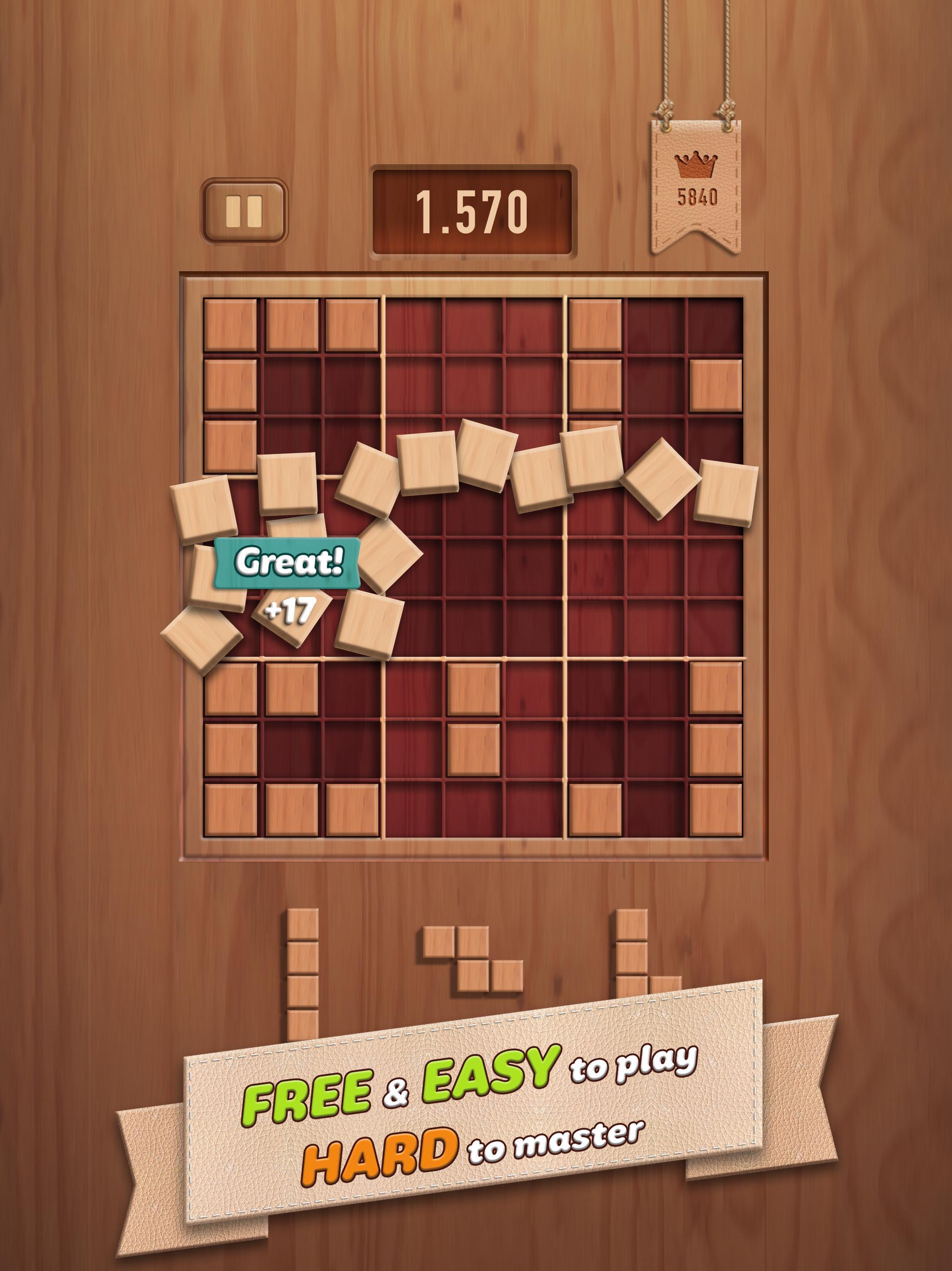 Woody 99 Sudoku Block Puzzle - Free Mind Games 1.2.2 Screenshot 8