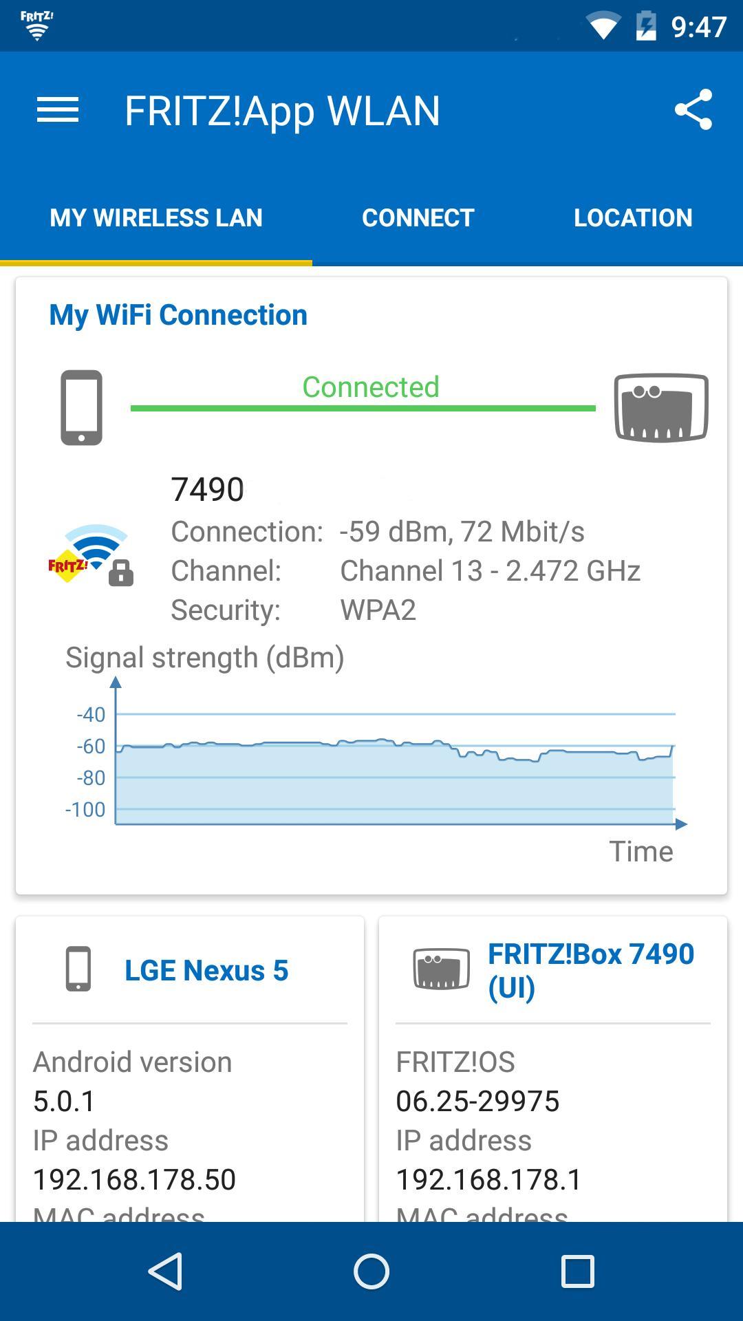 FRITZ!App WLAN 2.8.14 Screenshot 1