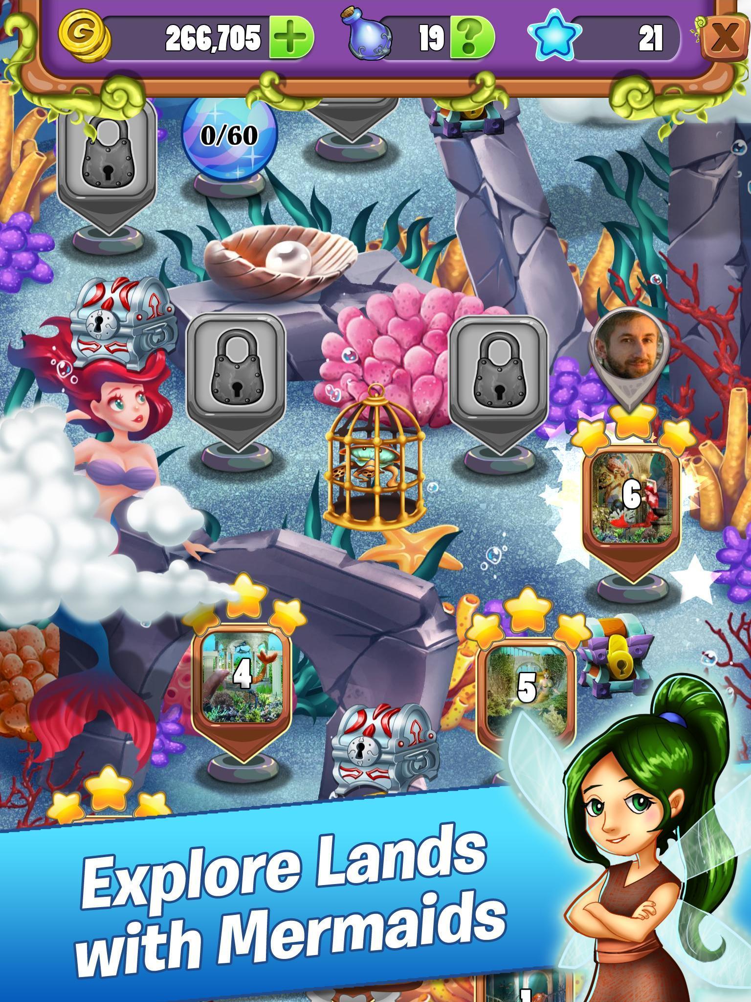 Mahjong - Mermaid Quest - Sirens of the Deep 1.0.42 Screenshot 10