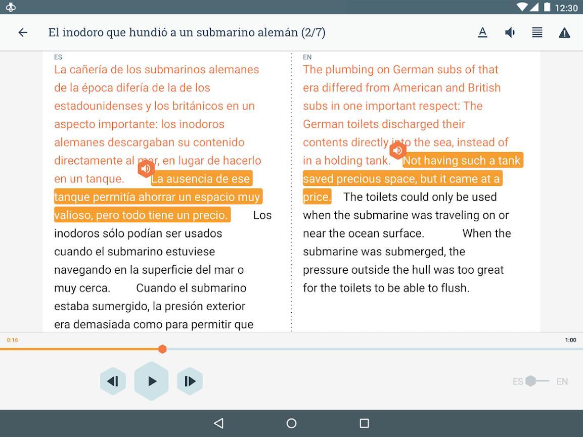 Beelinguapp Learn Languages Music & Audiobooks 2.380 Screenshot 9