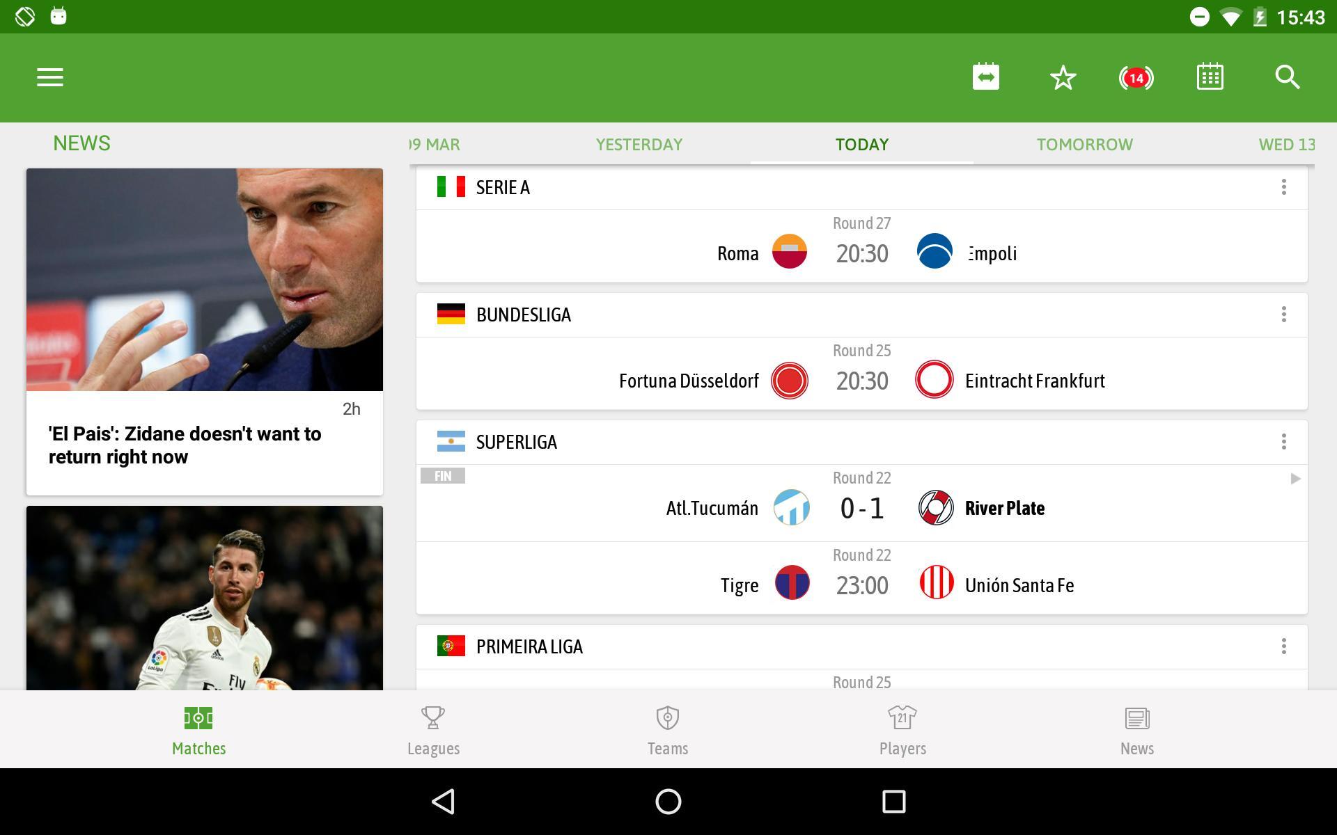 BeSoccer Soccer Live Score 5.1.1.4 Screenshot 12