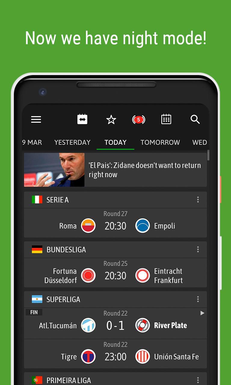 BeSoccer Soccer Live Score 5.2.2.1 Screenshot 2