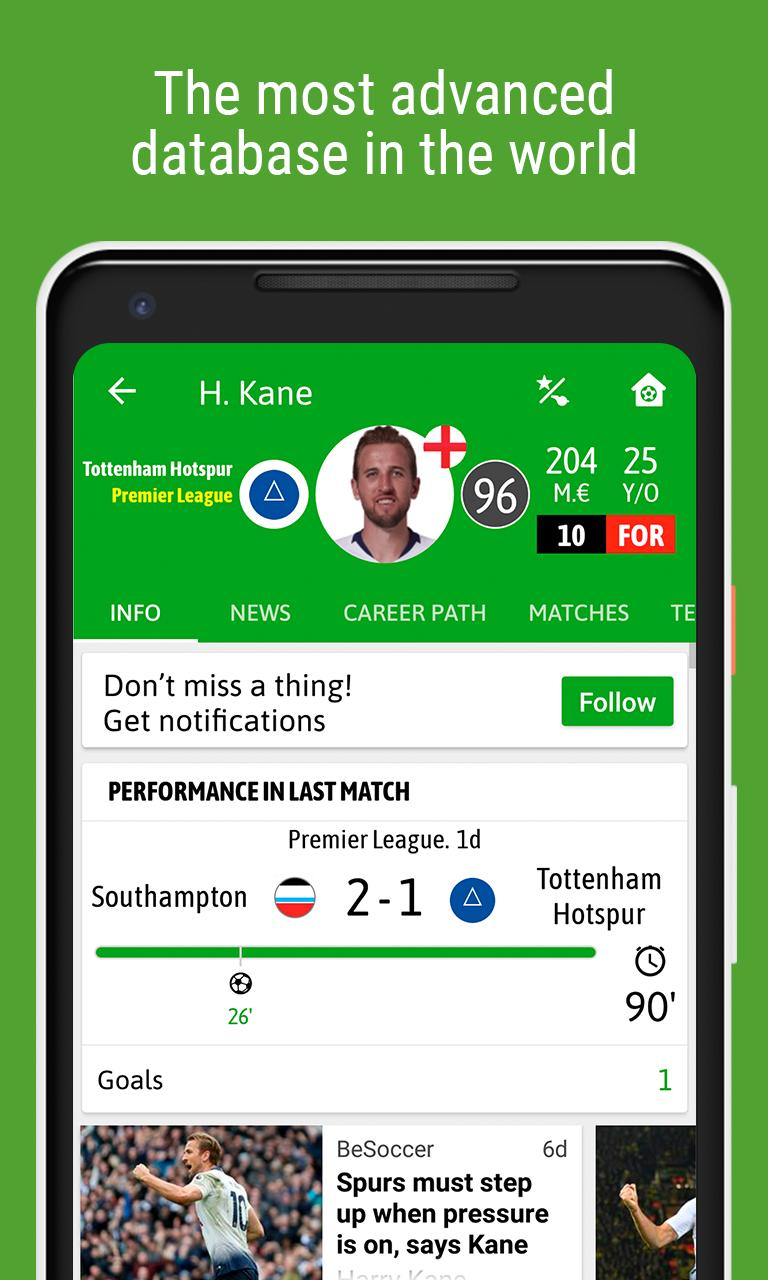 BeSoccer Soccer Live Score 5.1.1.4 Screenshot 7