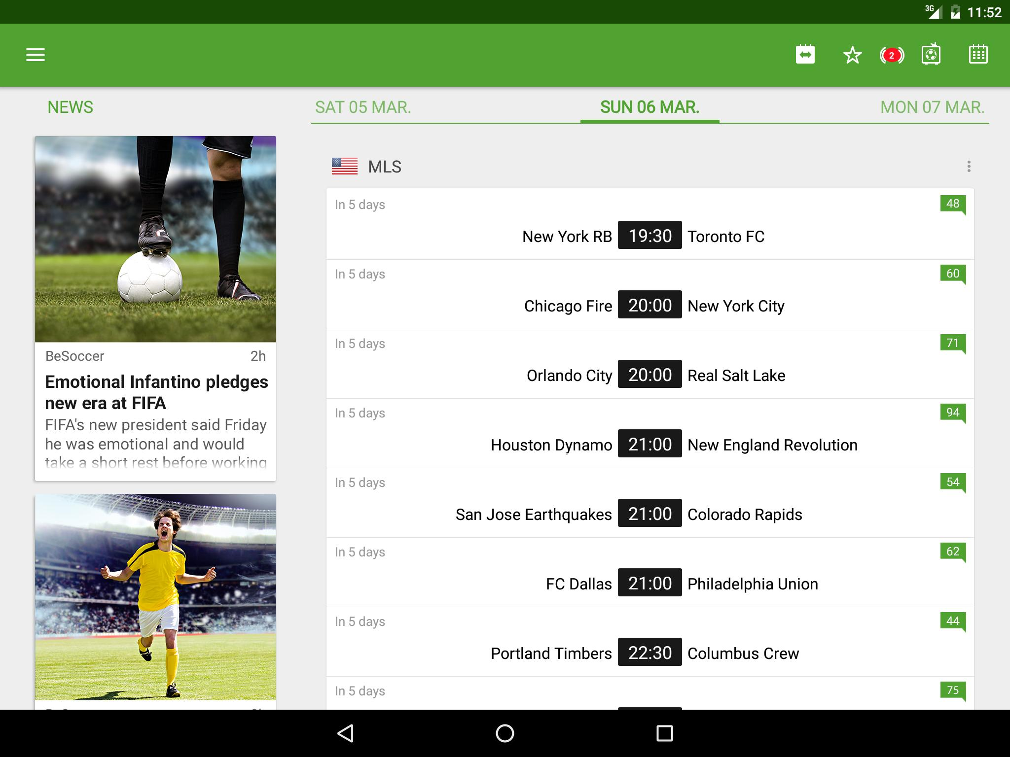 BeSoccer Soccer Live Score 5.2.2.1 Screenshot 9