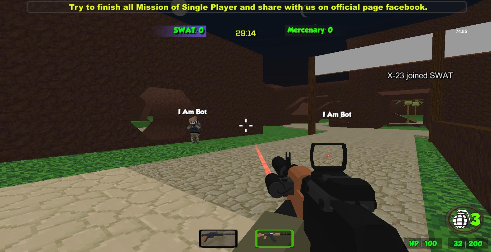 Blocky Combat Strike Zombie Survival 1.25 Screenshot 11