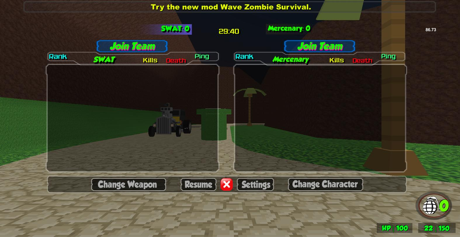 Blocky Combat Strike Zombie Survival 1.25 Screenshot 14