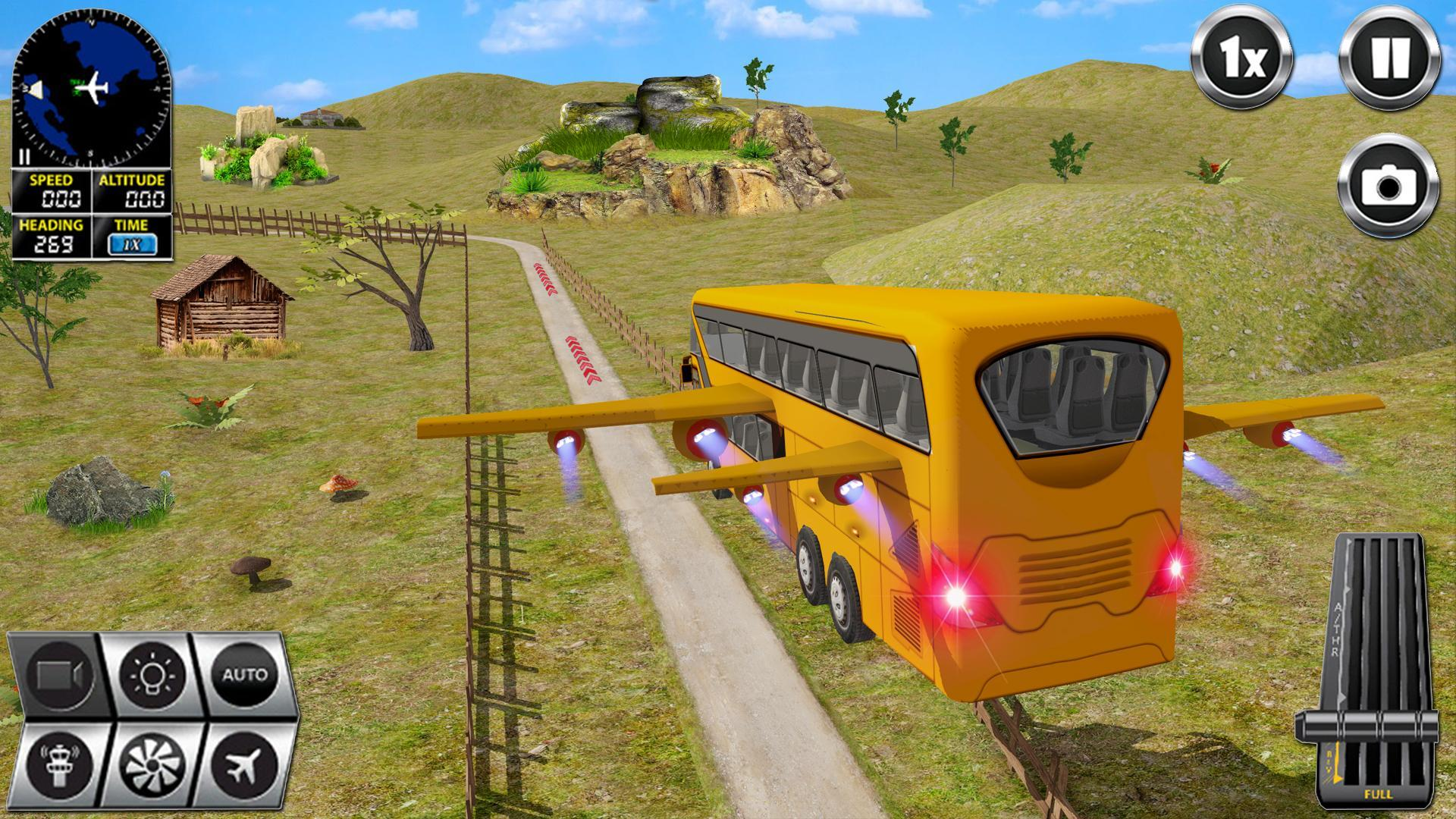 Flying Bus Driving simulator 2019: Free Bus Games 2.8 Screenshot 12
