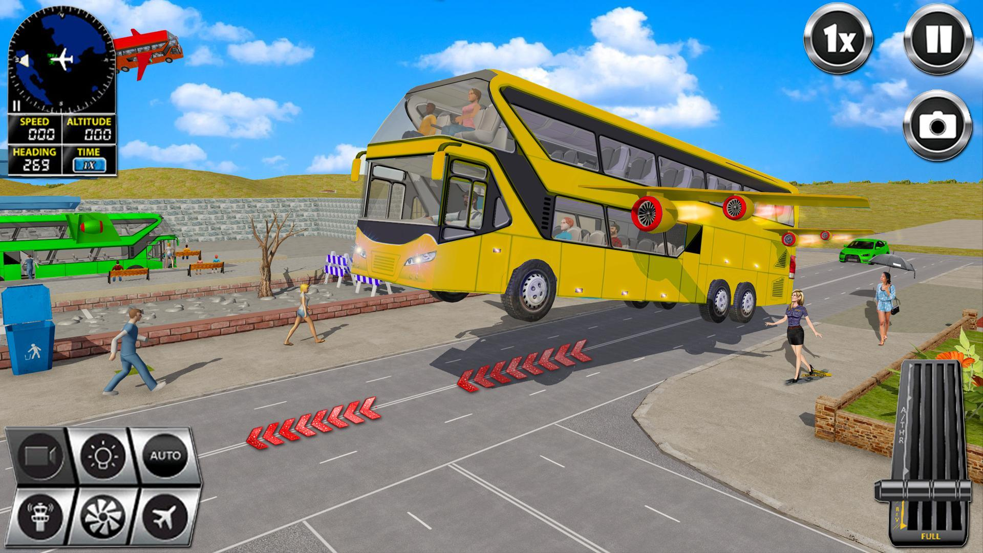 Flying Bus Driving simulator 2019: Free Bus Games 2.8 Screenshot 2