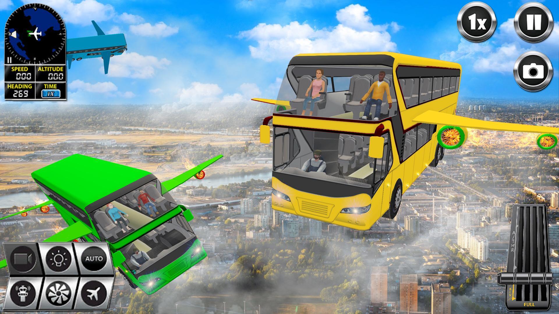 Flying Bus Driving simulator 2019: Free Bus Games 2.8 Screenshot 3