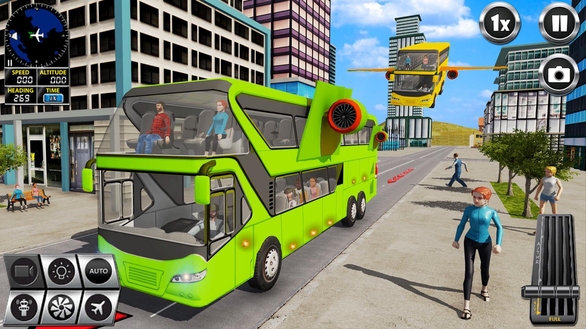 Flying Bus Driving simulator 2019: Free Bus Games 2.8 Screenshot 4