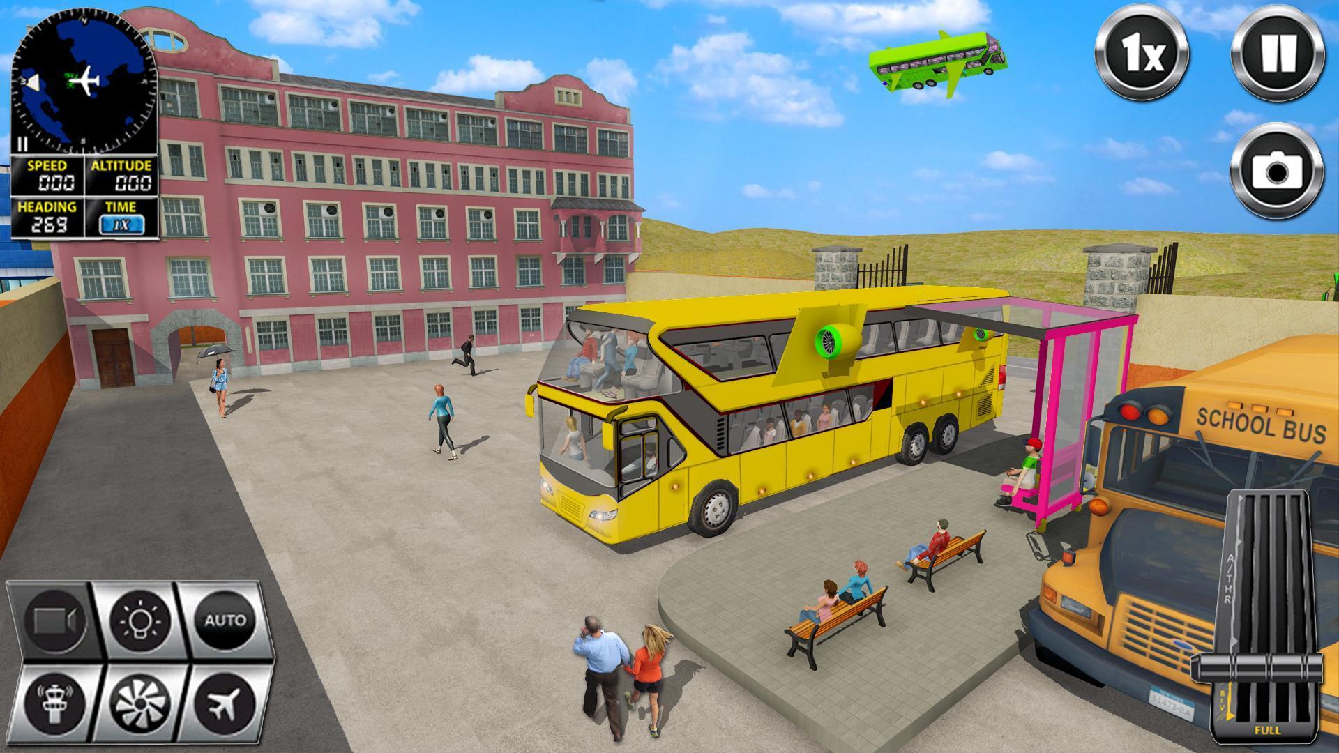 Flying Bus Driving simulator 2019: Free Bus Games 2.8 Screenshot 5