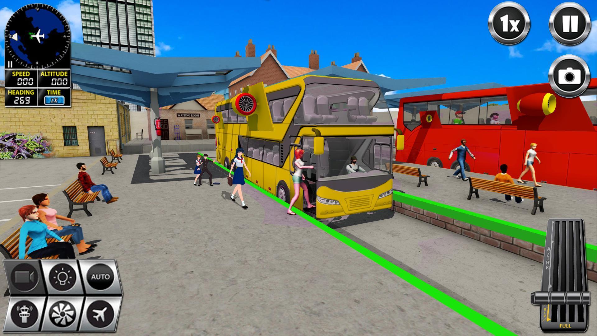 Flying Bus Driving simulator 2019: Free Bus Games 2.8 Screenshot 7