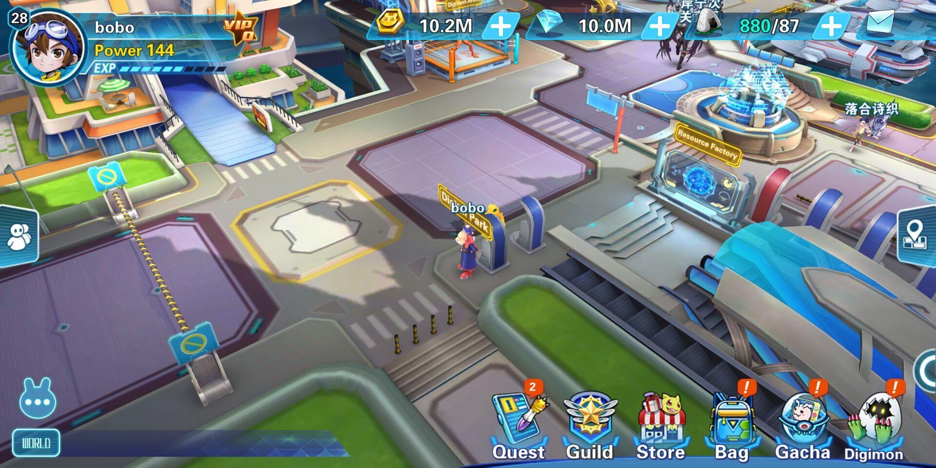 Digital World Frontier screenshot