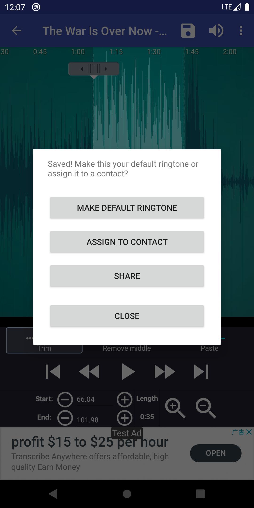 Ringtone Maker create free ringtones from music 2.5.9 Screenshot 5